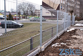 Sectional zinc fence