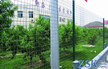 pvc welded green mesh