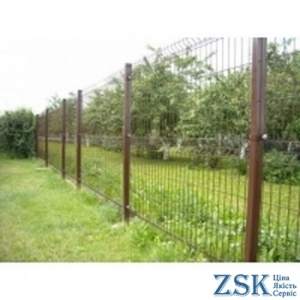 Mesh fence brown