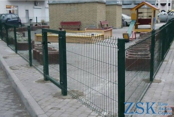 Sectional fence from the grid