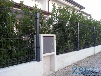 Gray section fence