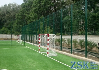 Fencing mesh for sports grounds. Mesh fence - high quality technical sports. Fence netting manufacturer's price in ZSK warehouse. PROM series with polymer coating - fence sections Ukraine