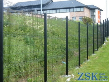 ECO section 1.68x2.5m 3mm intake sections ECO. Sectional fence - high quality. 3D fence from the manufacturer at the ZSK warehouse. Eco color series with polymer coating - fence section Ukraine