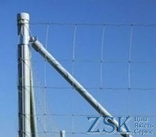 articulated mesh - Pillar 2,3m ф45mm galvanized for articulated mesh is used for forestry, farm, agricultural enterprises forestry mesh articulated mesh from the manufacturer Ukraine