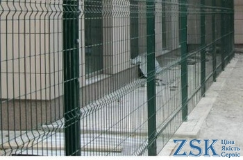 Fence Classic 1.7m Sections 4mm 1.68x2.5m mesh welded with a polymer coating price. Fence netting manufacturer Ukraine, high quality tekna classic 3D fence with polymer and PVC coating in ZSK warehouse - green netting on the fence Kiev