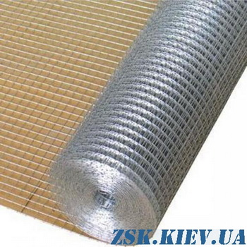 metal mesh - welded galvanized mesh 12x12 roll 30m Produced in Ukraine, high quality, made of galvanized wire with different mesh. welded galvanized mesh 10x10 price production Ukraine, warehouse Kiev ZSK