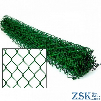 fences made of mesh netting - netting netting with polymer coating price ➤ 35x35x2.5mm ➤ High quality, made of galvanized wire with mesh 35x35 and 50x50mm. Custom order 50x50x3. ➤ mesh pvc chain-link production Ukraine, warehouse Kiev ZSK