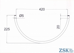 Brackets for Egoza barbed wire from the manufacturer